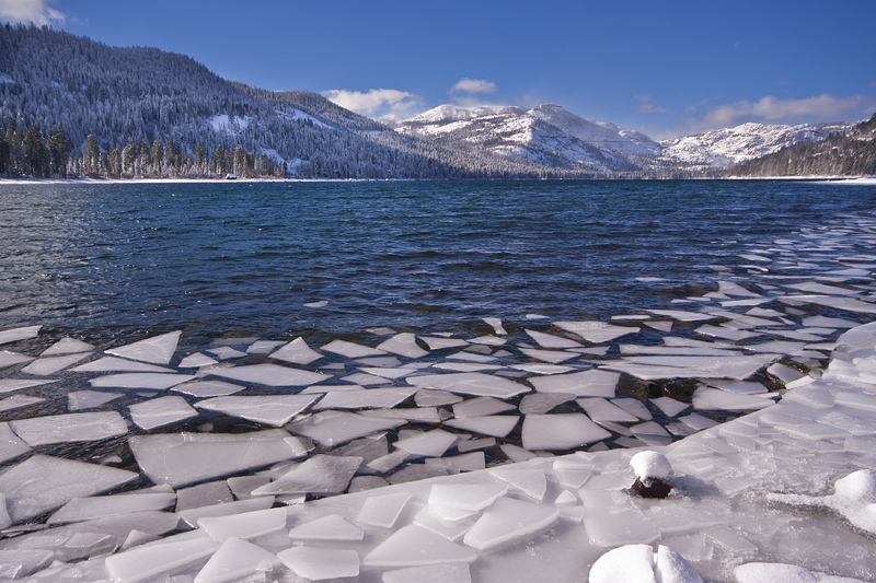 Cracked Ice on Donner Lake, Truckee CA
